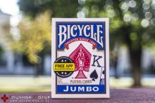 Карты Bicycle Jumbo index синие